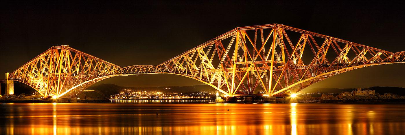 Forth Railway Bridge Night