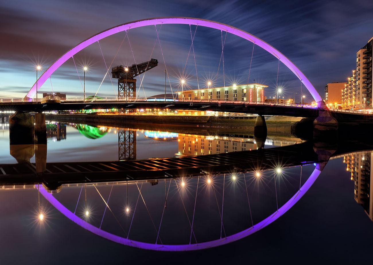 Clyd Arc Bridge Twilight