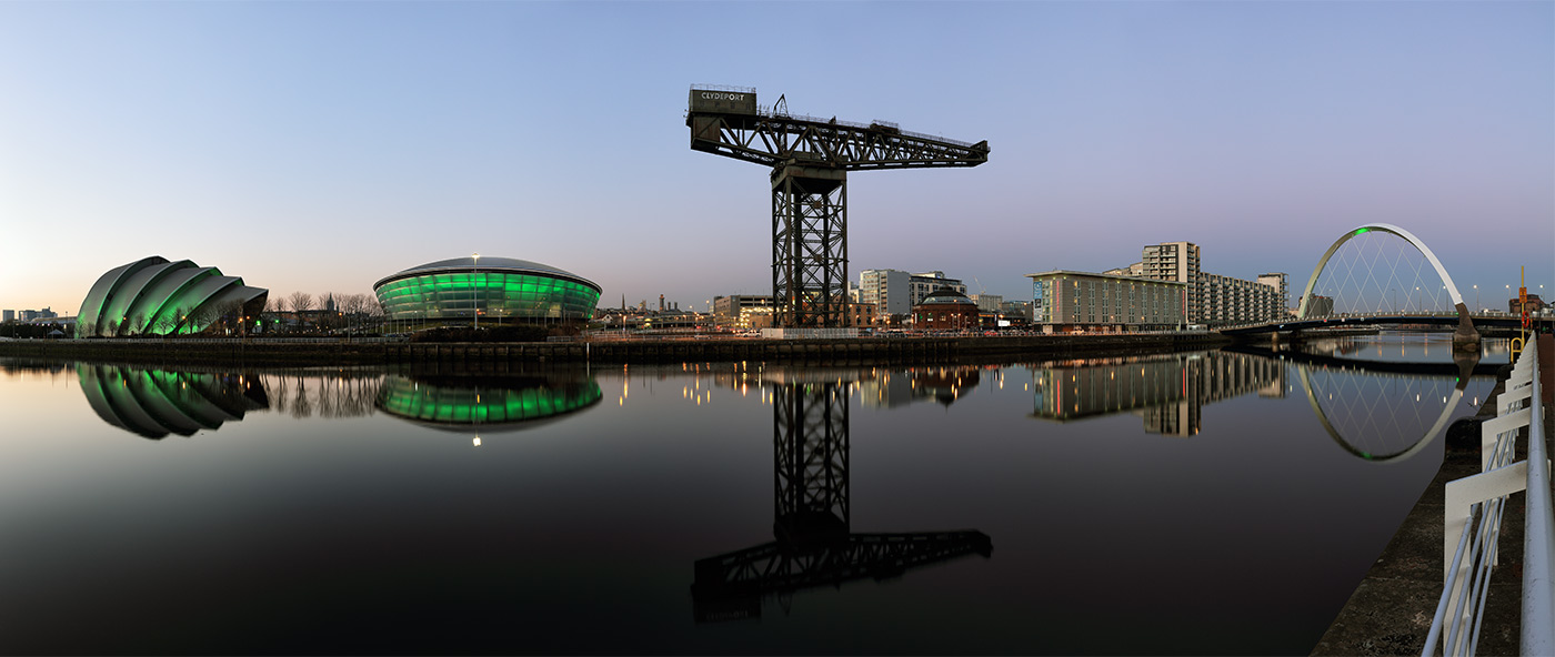 Clyde Waterfront After Sunset