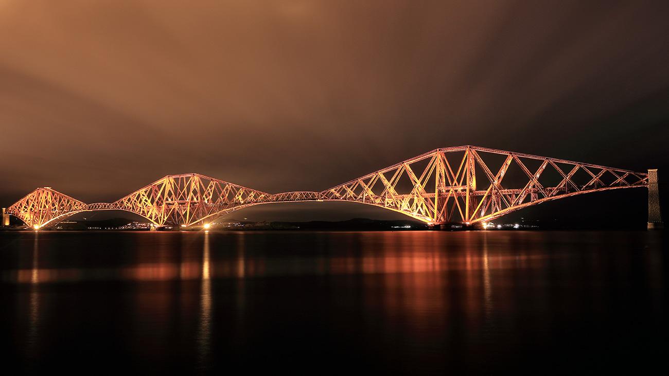 Forth Rail Bridge Night