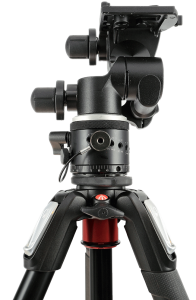 Manfrotto 410 geared head and 300n panoramic rotating unit.