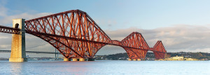 Panoramic image of the Forth Railway Bridge.