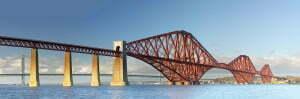 Panoramic image of the Forth Railway Bridge.