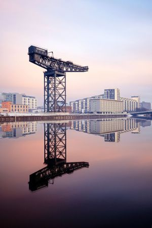 Glasgow Finnieston Crane Reflection
