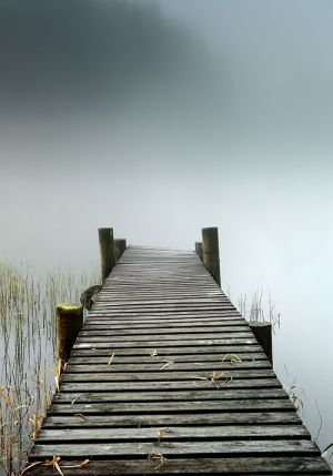 Loch Ard Misty Jetty
